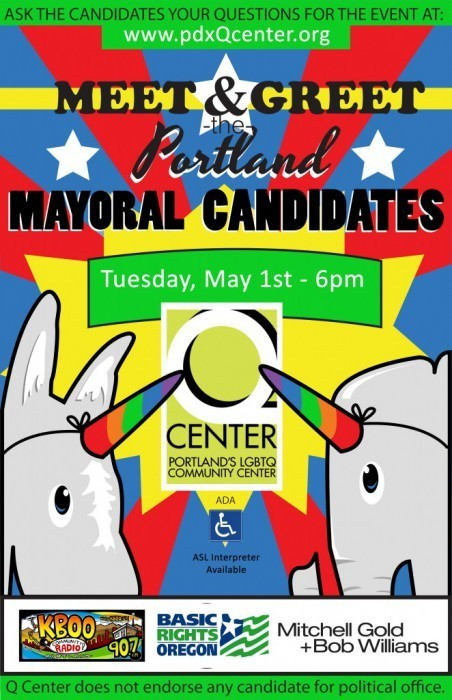 Q Center's Mayoral Forum Tonight