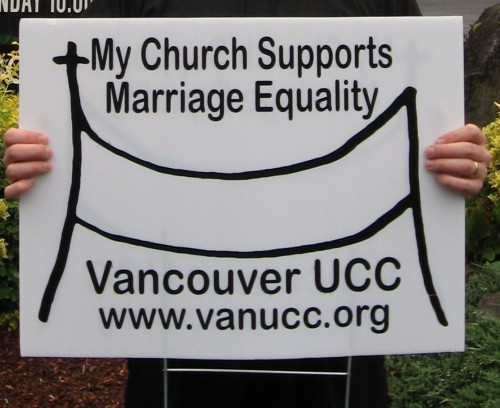 "Vancouver Church Distributes Yard Signs: ""My Church Supports Marriage Equality"""