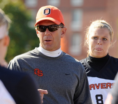 Out OSU softball coach Kirk Walker says goodbye to Oregon