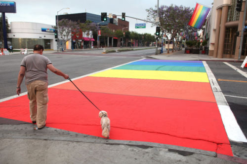 West Hollywood OKs Permanent Rainbow Crosswalks