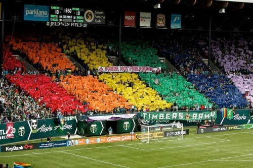 Timbers Army Takes a Colorful Stand Against Homophobia