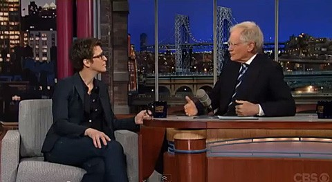 Rachel Maddow, David Letterman Talk Marriage Equality, Insecurity