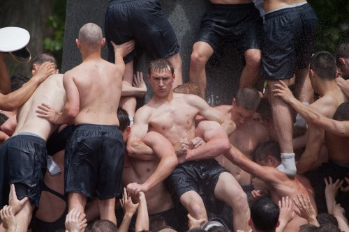 Rejoice! Naval Academy's Annual Herndon Climb Just As Homoerotic As Ever