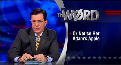 A Case Study in Transmisogyny: The Colbert Report & The Daily Show