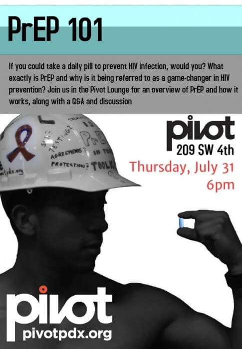 As HIV Rates in Gay Men Continue to Rise, Pivot to Host PrEP 101 Night