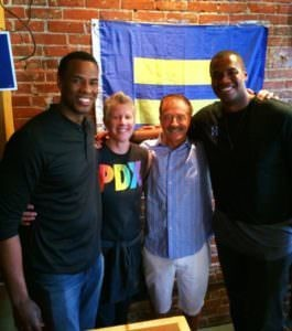 First openly gay NBA player Jason Collins visits Portland