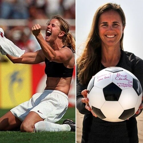 BRANDI CHASTAIN SPEAKS AT ST MARYS ACADEMY ABOUT COMPETING, EMPOWERMENT AND COMMUNITY.
