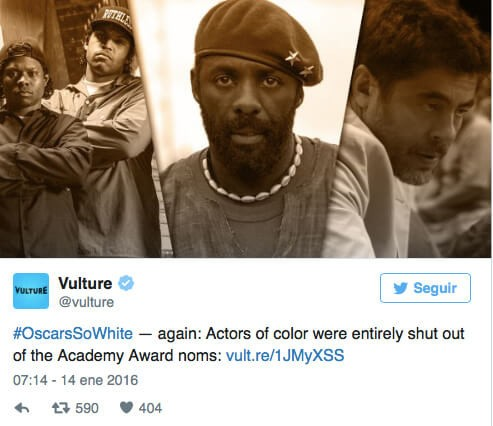 #OscarsSoWhite, Again: A Symptom of Hollywood's Racism