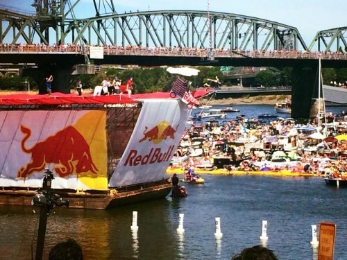 Scandals Represents at Portland's Red Bull Flugtag